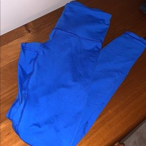Old navy leggings bright blue size small